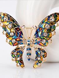 cheap -Women's Brooches Fancy Butterfly Stylish Cute Brooch Jewelry Rainbow For Wedding Festival