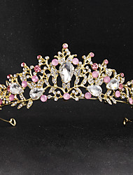 cheap -Crystal / Alloy Tiaras with Crystal / Sided Hollow Out 1 Piece Wedding / Party / Evening Headpiece