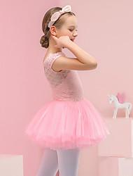 cheap -Kids' Dancewear / Ballet Dresses Girls' Performance Lace / Tulle Lace Short Sleeve Dress