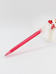 cheap -Christmas Plastic / Feather / Resin Santa Claus Blue Pencil Lead Ballpoint Craft Gifts For Children Learning Office Stationery