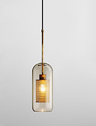 cheap -1-Light 13 cm Pendant Light Glass Glass Cylinder Electroplated Retro Globe 110-120V 220-240V