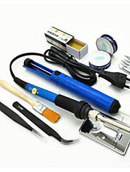 Недорогие -Электрическая паяльник с регулируемой температурой 60 Вт, сварочная платформа, терморегулятор