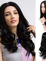 cheap -Remy Human Hair Lace Front Wig style Brazilian Hair Deep Wave Black Wig 130% Density Classic Women Easy dressing Sexy Lady Best Quality Women's Medium Length Human Hair Lace Wig Factory OEM