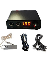 cheap -BaseKey Professional Tattoo Power Supply 110/240 V Professional Iron for Tattoo Machine Power Tattoo Machine Foot Pedal Clip Cord Kit