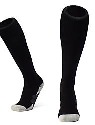 Недорогие -Взрослые Футбольные носки Спортивные носки Футбольные Носки Хлопок Муж. Носки Длинные носки Футбол Дышащий Комфорт Впитывает пот и влагу Зима Для спорта и активного отдыха 1 пара / Эластичная