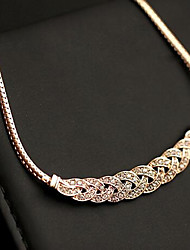 cheap -Women's Choker Necklace Collar Necklace Pave Precious Fashion Zircon Alloy Gold Silver 45 cm Necklace Jewelry 1pc For Christmas Party Evening Formal Festival