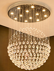 cheap -12 Bulbs 80 cm Crystal / Bulb Included / Designers Chandelier Metal Crystal Electroplated Chic & Modern 110-120V / 220-240V