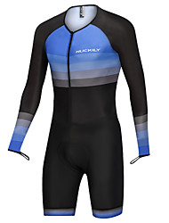 cheap -Nuckily Men's Long Sleeve Triathlon Tri Suit Bule / Black Bike Clothing Suit Breathable Sports Spandex Horizontal Stripes Mountain Bike MTB Road Bike Cycling Clothing Apparel / Micro-elastic