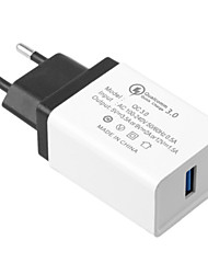 Недорогие -Быстрое зарядное устройство / Портативное зарядное устройство Зарядное устройство USB Евро стандарт QC 3.0 1 USB порт 3 A 100~240 V для Универсальный