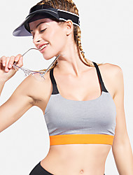 cheap -Women's Sports Bra Top Sports Bra Running Fitness Jogging Lightweight Breathable Sweat-wicking Padded Light Support Black Grey Solid Colored