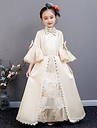 cheap -Cosplay Lolita Rococo Victorian Princess Dress Outfits Costume Kid's Costume Golden Vintage Cosplay Party / Evening Birthday Party Birthday Long Length A-Line