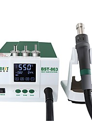 cheap -BST 863 lead-free Thermostatic Heat Gun Hot Air Rework station 1200W Intelligent digital display rework station for phone Repair
