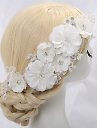 cheap -Imitation Pearl / Rhinestone / Fabrics Flowers with Rhinestone / Imitation Pearl / Flower 1 Piece Wedding Headpiece