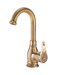 cheap -Kitchen faucet - Single Handle One Hole Multi-Ply Standard Spout / Tall / ­High Arc Free Standing / Brass