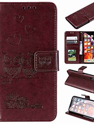 cheap -Case For Apple iPhone XS / iPhone XR / iPhone XS Max Wallet / Card Holder / Flip Full Body Cases Animal Hard PU Leather