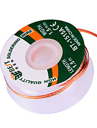 cheap -Low Residue Free Cleaning Tin Wire 1.5 M Tin Removal Tin Strip Strong Rope Desoldering Tin Strip