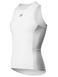cheap -Mysenlan Men's Sleeveless Cycling Vest White Solid Color Bike Breathable Sports Solid Color Mountain Bike MTB Road Bike Cycling Clothing Apparel / Stretchy