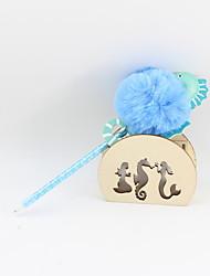 Недорогие -пластиковый гиппокамп шарик для волос синий карандаш ведущий шариковая ремесло подарки для детей, обучающихся офис канцтовары