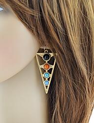 cheap -Women's Drop Earrings Geometrical Stylish Trendy Modern energy Earrings Jewelry Gold For Party Daily Festival 1 Pair
