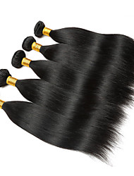 cheap -6 Bundles Brazilian Hair Straight 100% Remy Hair Weave Bundles Natural Color Hair Weaves / Hair Bulk Bundle Hair One Pack Solution 8-28inch Natural Color Human Hair Weaves Newborn Waterfall Cute
