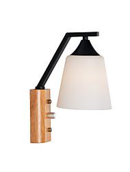cheap -1 Light European Wall Lamps & Sconces/ Mini Style Retro for Living Room Bedroom Wood / Bamboo 110-120V / 220-240V/E26/E27/ Without Bulb