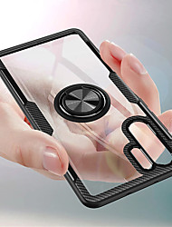 abordables -Coque Pour Huawei Huawei P20 / Huawei P20 Pro / Huawei P20 lite Antichoc / Anneau de Maintien / Transparente Coque Couleur Pleine Dur TPU / PC