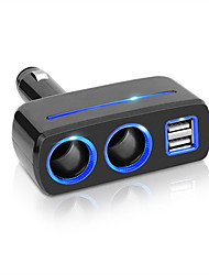 cheap -Car Cigarette Lighter Splitter Socket Plug USB Charger