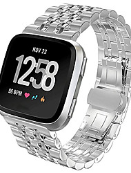 cheap -Watch Band for Fitbit Versa / Fitbit Versa Lite Fitbit Butterfly Buckle Metal / Stainless Steel Wrist Strap