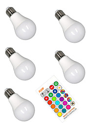 cheap -5pcs 5 W LED Smart Bulbs 350 lm E26 / E27 A60(A19) 3 LED Beads SMD 5050 Smart Dimmable Party RGBW 85-265 V