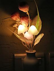 abordables -1pc eu plug led nouveauté lumière champignon tulipe fleur capteur de lumière nuit lampe décoration de la maison romantique bébé chambre