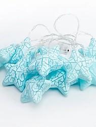 cheap -2m String Lights 10 LEDs 1 set Blue Decorative AA Batteries Powered