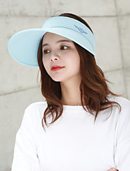 cheap -Women's Active Basic Cute Cotton Polyester Baseball Cap-Solid Colored Spring Summer Beige Pink / White Light Blue