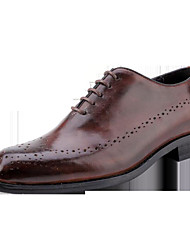 cheap -Men's Formal Shoes Cowhide Spring Business Oxfords Black / Wine / Brown / Wedding