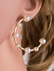 cheap -Women's Gold Pearl Drop Earrings Geometrical Korean Pearl Earrings Jewelry Gold For Daily 1 Pair