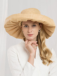 cheap -Natural Fiber Straw Hats with Bowknot 1pc Casual / Daily Wear Headpiece