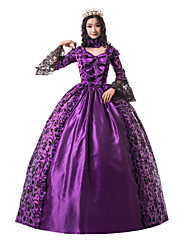 cheap -Princess Maria Antonietta Floral Style Rococo Victorian Renaissance Dress Party Costume Masquerade Women's Lace Lace Costume Purple Vintage Cosplay Christmas Halloween Party / Evening 3/4 Length