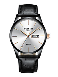 cheap -WLISTH Men's Dress Watch Analog Quartz Minimalist Calendar / date / day Casual Watch / One Year / Leather