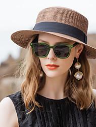 abordables -Fibre naturelle Chapeaux de paille avec 1pc Décontracté / Usage quotidien Casque