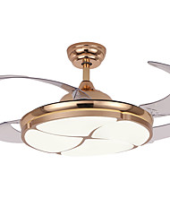 cheap -1-Light QINGMING® 108 cm Multi-shade / LED Ceiling Fan Metal Circle Electroplated LED / Modern 110-120V / 220-240V