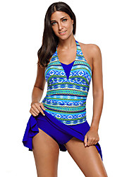 cheap -Women's Two Piece Swimsuit Swimwear Sleeveless Swimming Water Sports Painting Patchwork Summer / Stretchy