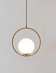 cheap -Circle Pendant Light Ambient Light Gold Metal Glass Adjustable 110-120V / 220-240V Warm White / Cold White