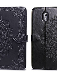 cheap -Case For Nokia Nokia 3.1 Card Holder / Flip Full Body Cases Solid Colored Hard PU Leather for Nokia 3.1