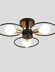 cheap -JSGYlights 3-Light 57 cm New Design Flush Mount Lights Metal Painted Finishes Country / Modern 110-120V / 220-240V / E26 / E27
