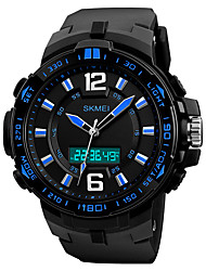 cheap -SKMEI Men's Digital Watch Digital Casual Water Resistant / Waterproof Analog - Digital Black Yellow Blue / Silicone / Calendar / date / day / Chronograph / Noctilucent