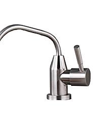 Недорогие -кухонный смеситель - Одной ручкой одно отверстие Нержавеющая сталь Очищенная вода Другое Современный Kitchen Taps