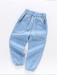 cheap -Kids Boys' Basic Street chic Solid Colored Cotton Jeans Blue