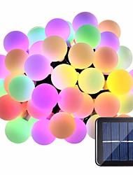 cheap -5m String Lights 20 LEDs 1Set Mounting Bracket 1 set Warm White / RGB / White Waterproof / Solar / Creative Solar Powered