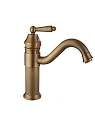 cheap -Bathroom Sink Faucet - Widespread Antique Copper / Gold / Rose Gold Other Single Handle One HoleBath Taps