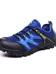 cheap -Men's Fall / Spring & Summer Casual / British Daily Outdoor Trainers / Athletic Shoes Hiking Shoes / Walking Shoes Mesh Breathable Non-slipping Shock Absorbing Army Green / Royal Blue / Gray 3D