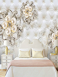 cheap -Soft bag of pearl flowers Suitable for TV Background Wall Wallpaper Murals Living Room Cafe Restaurant Bedroom Office XXXL(448*280cm